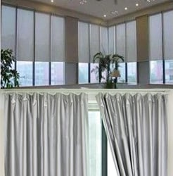 EMI shielding curtains : EMF shielded curtains mesh vs fabric