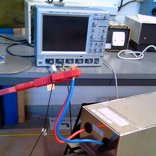 Example of a conductive emission measurement