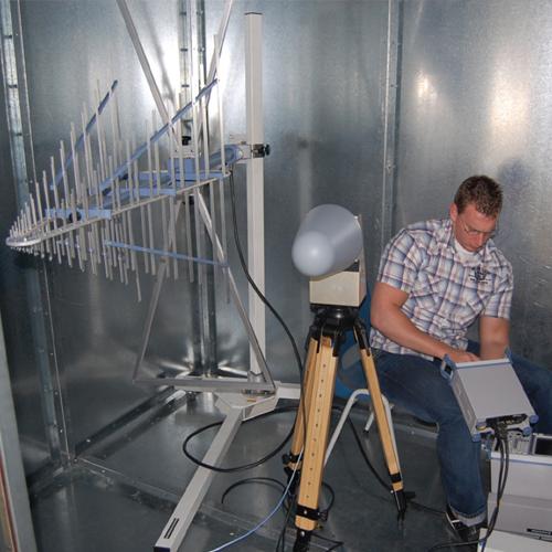 Példa kép egy Faraday-kalitka mérés helyét