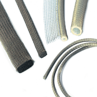 Metal knit gasket/knitted wire mesh for EMI/RFI shielding