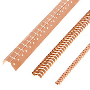 Angled fingerstrips series for 90° EMC shielding