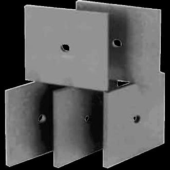 Azulejos absorbentes de ferrita UHF