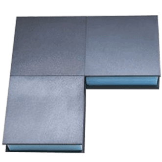 Double layer ferrite absorber tiles