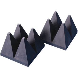 Wide band hybrid pyramid EM absorbers