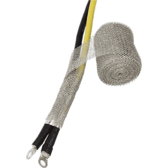 Wrapshield is a knitted wire mesh for grounding & EMI/RFI cable shielding