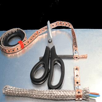 Abrazaderas de puesta a tierra de cables