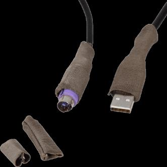 Escudos del conector del cable