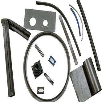 Silicone shielding elastomers