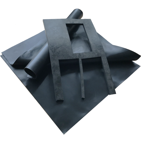 Conductive graphite filled rubber