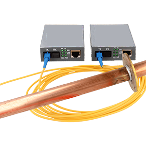 Fiber optic ethernet converter set