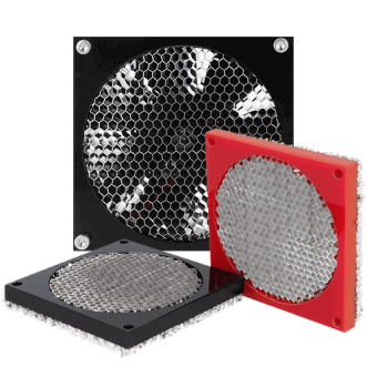 Honeycomb fan shield