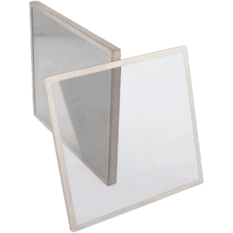 Shielded mesh foil windows