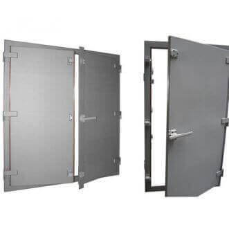 Faraday cage doors