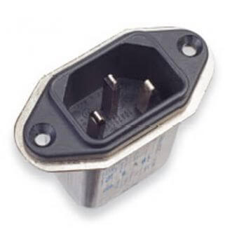 Filtro de línea de alimentación compacto