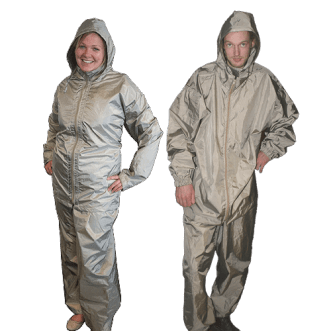 Electromagnetic radiation protective clothing for EMI/RF-sensitive people