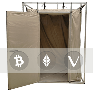Crypto currency protection tent