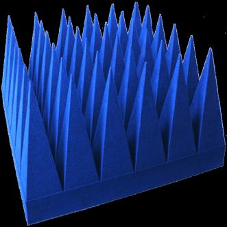 Broadband hybrid pyramidal absorbers