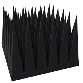 Rubber pyramid absorber