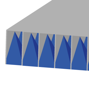 Walkable floor for absorbers