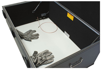shielding testing enclosure box inside