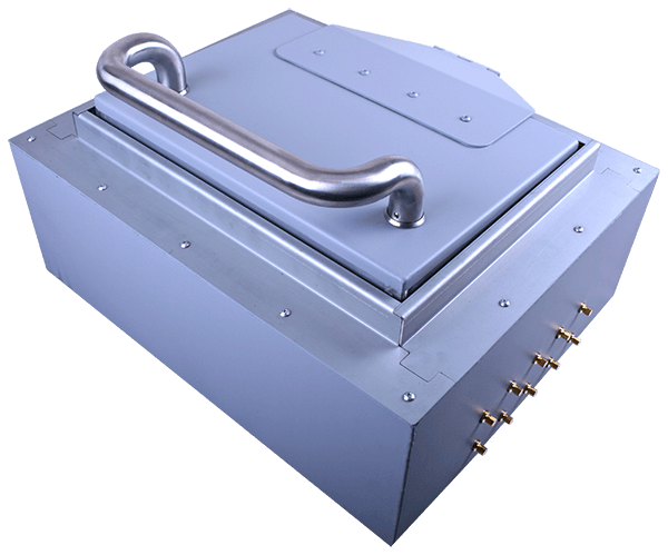 High performance RF shielded box closed