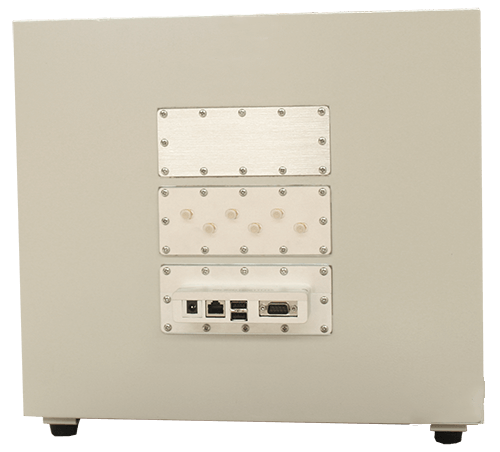 MPSB-35-40-30 Medium performance shielded box back view