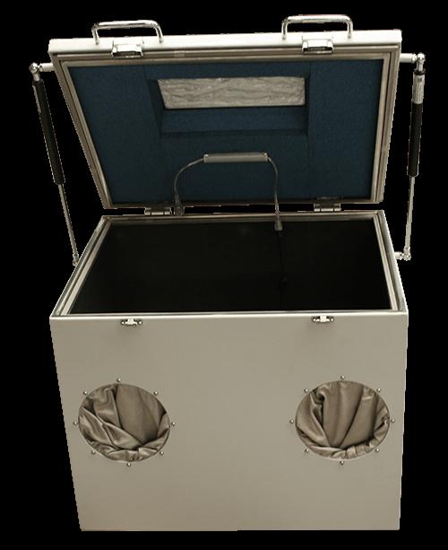 MPSB 50-40-40 Medium performance shielded box inside view