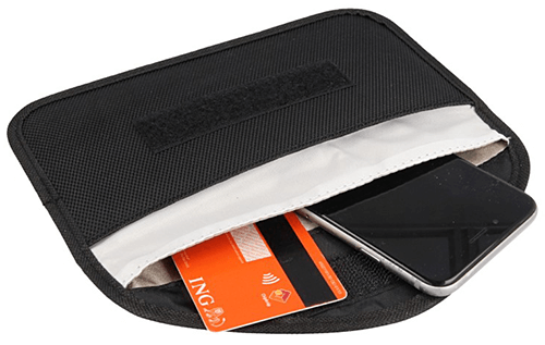 Bolsa protectora pequeña para llaves electrónicas de coche, dispositivos RFID, tarjetas de crédito