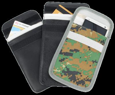 Shielding pouche phone versions
