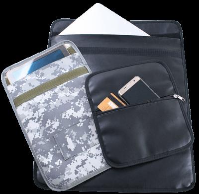 Shielding pouche large for Multiple cell phones, PDAs, Passports, GPS Navigation Units