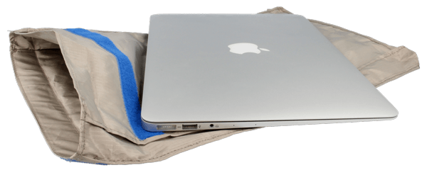 Laptop sized textile shielding pouch