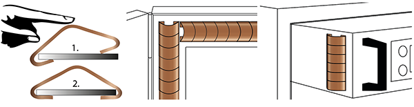 Figure 97.1 : Snap-on fingertstrips for slot mounting and large compression