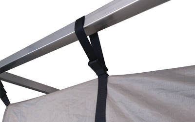 Faraday shielded tent adjustable rope frame