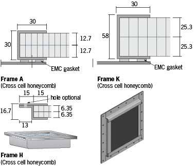 honeycomb ventilation panels Cross-cell honeycombs